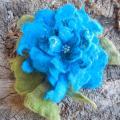 """Gėlė """"Mėlyna su lapeliais """""""