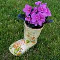 Guminiai botai - vazonėliai gėlėms