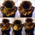 Rudai geltonas šalikėlis