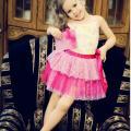 art-anastasija - Rožinis trijų sluoksnių sijonas iš kolek