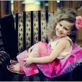 Rožinis trijų sluoksnių sijonas iš kolek