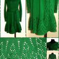 """Ediba - Megzta suknelė """"Žaliuokė """""""