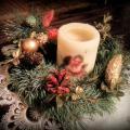 Kalėdinis stalo vainikas