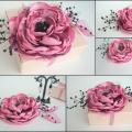 Rožinė gėlė-sagė