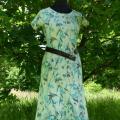 """Ant šilko velta suknelė trumpom rankovėm """"Vasaros beieškant"""""""