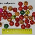 Medaliai-ženkliukai - krepšinio kamuolys