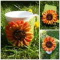 Vasaros spalvos :) puodelio dekoracija