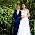 Vestuvinė mocherinė suknelė