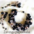 zavinga - Juodai rusvas kristalų komplektas