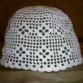 Balta nerta medvilninė kepuraitė