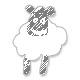Baltas angoros šalikas skraistė su garbanėlėmis