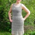 Lininė kiauraraštė suknelė