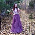 Megzta moherinė vakarinė suknelė