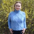 Megztinis megzrtas virbalais Mėlynos liepsnos