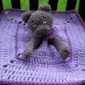 Nertas vaikiškas migdukas - žaisliukas Meškutė Viltė