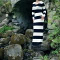 pavasariškai dryžuota suknelė ''Juoda-Balta''