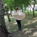 Smėlinis (medaus) universalaus dydžio megztukas - kardiganas