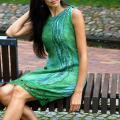 """Velta suknelė """"Žaliai melsva"""""""
