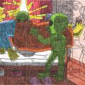 Burtininkai su ateiviais - pačiame grobiamos Žabinės bute