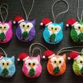 ingu22 - Kalėdiniai žaisliukai pelėdžiukai
