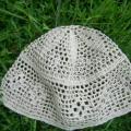 """Kepurė iš lino su """" Rombeliais"""""""