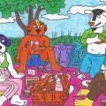 Keturi draugai iškylauja greta Papyvesio slėnio