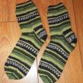 Knitfinity - Margos kojinės žalios