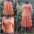 Knitfinity - Oranžinis kostiumėlis