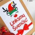 Mažasis elfas - Kalėdinių dovanėlių idėja - siuvinėtas rankšluostis