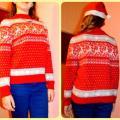 """Megztinis """"Kalėdinis briedžių šokis"""""""