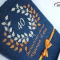 Mylimam broliui - 40 Jubiliejaus proga - siuvinėtas rankšluostis