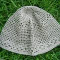 Nerta kepurė iš natūralaus lino
