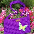 Nerta mergaitiška violetinė rankinė