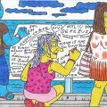 Nycių gyventojai ant Palangos jūros tilto galo