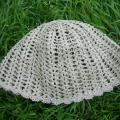 robe-a - Nerta kepurė iš lininių siūlų