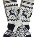 Vilnonės kojinės su elniais