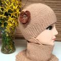zhaki - Nerta kepurė smėlinė