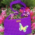 zhaki - Nerta mergaitiška violetinė rankinė