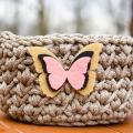 zhaki - Nertas krepšelis su drugeliu Nr.1
