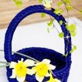 zhaki - Nertas mėlynas krepšelis