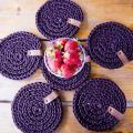 zhaki - Nertos servetėlės kavai rudos