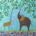 Žirafiukas ir drambliukas 50x55
