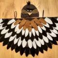 baltabalta - Paukščio, paukščiuko, žvirblio, žvirbliuko karnavalinis kostiumas vaikams*
