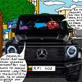 """Batuotas Katinas davė savo visureigį """"Mercedes"""" pavairuoti burtininkui Tukuručiui"""