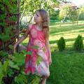 blansyte - Veltinio suknelė mergaitei.