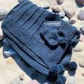 GP-1246 Alpakos vilnos komplektukas kūdikiui. Pledukas ir kojinytės