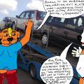 Kai Šunėnai lankėsi Panevėžio miesto automobilių turguje