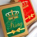 King / Queen - siuvinėti rankšluosčiai