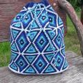 Knitfinity - Mėlyna kuprinė