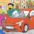 Kupkinukas ir jo žmona pirko sau naują lengvąjį automobilį